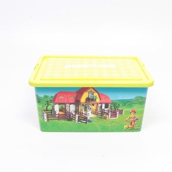 Boxy na hračky Playmobil 064663 Farma 2ks