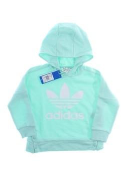 Dětská mikina Adidas modro zelená