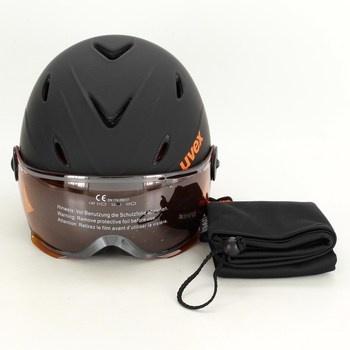 Lyžařská helma Uvex Junior Visor černá