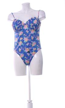 Dámské jednodílné plavky s květinovým vzorem