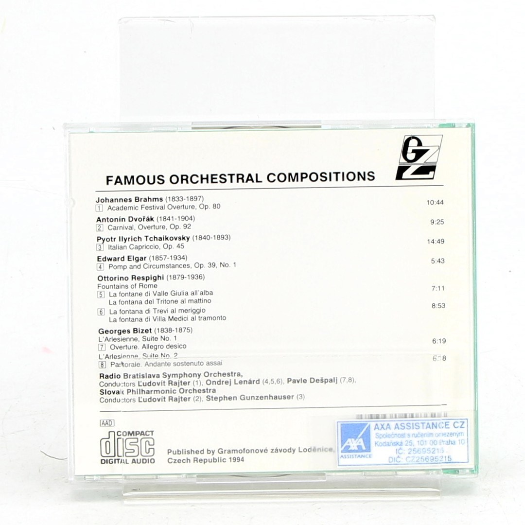Hudební CD Famous orchestral compositions