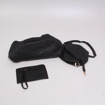 4 dílná sada koženkových kabelek černá