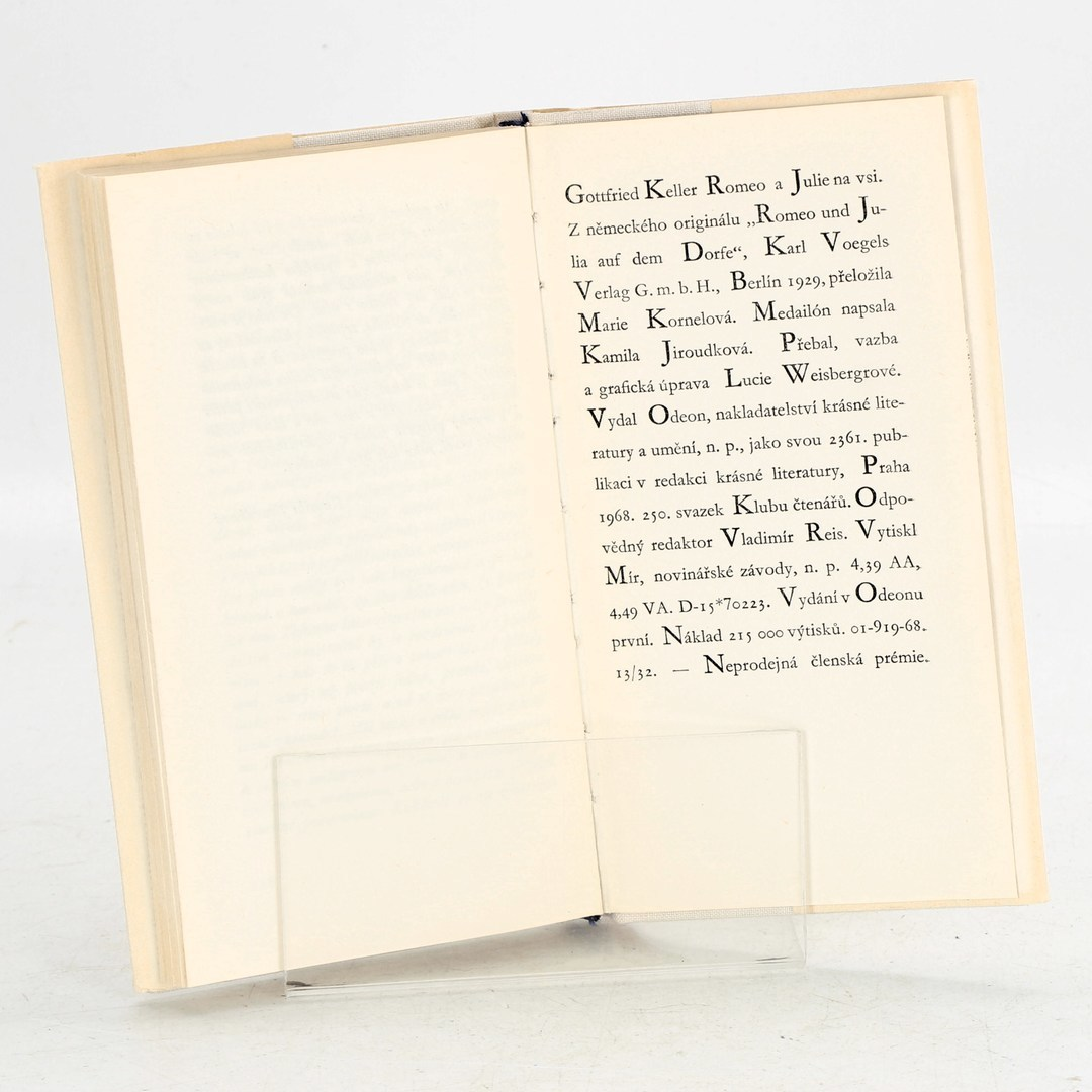 Kniha Gottfried Keller: Romeo a Julie na vsi
