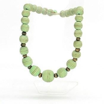 Bavlněný náhrdelník zelený