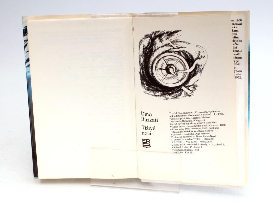 Kniha Dino Buzzati: Tíživé noci