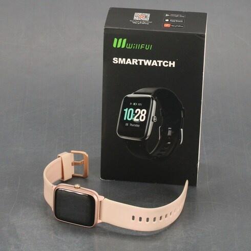 Chytré hodinky Willful IP68 růžové v němčině