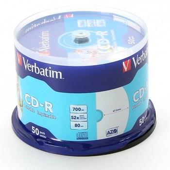Balení CD-R Verbatim 43438 50ks