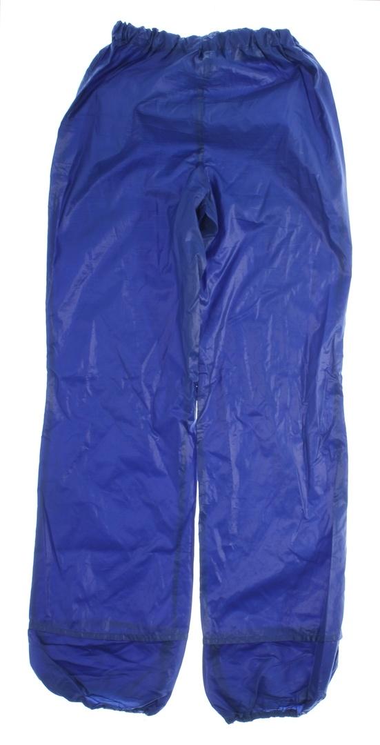 Dámské šusťáky s gumou v pase modré