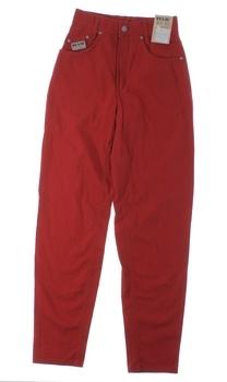 Dámské kalhoty HIS červené barvy