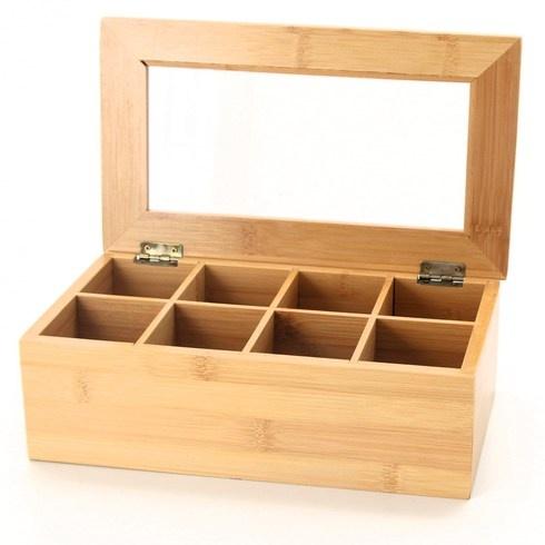 Bambusová krabička RelaxDays na uložení čaje