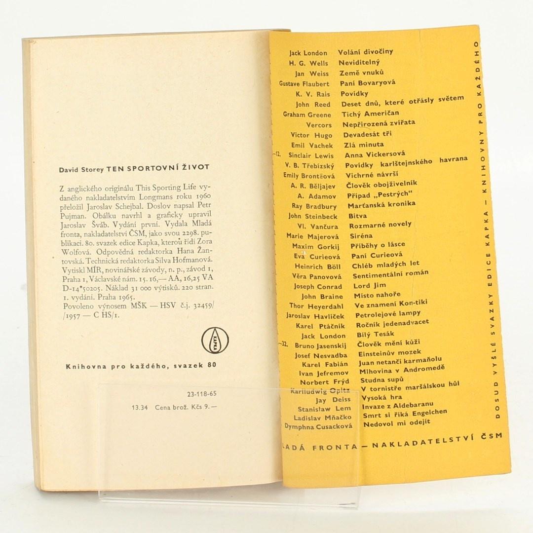 Kniha David Storey: Ten sportovní život