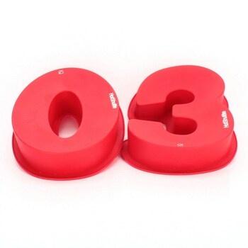 Silikonové formy HotShuffle číslo 30 červené