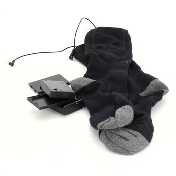 Vyhřívané ponožky na baterie černošedé