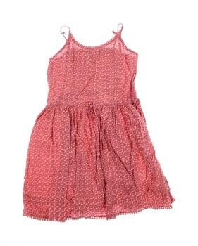 Dětské šaty George růžové s malými kytičkami