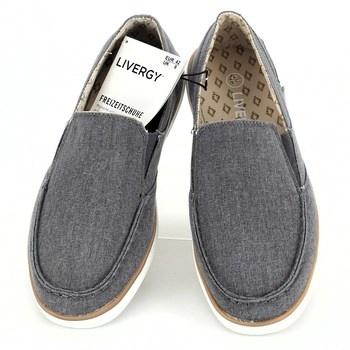 0e9f205460c Pánské látkové boty Livergy šedé