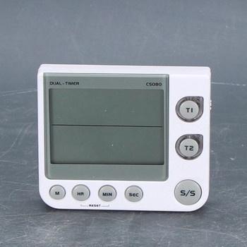 Digitální hodiny TFA stříbrné