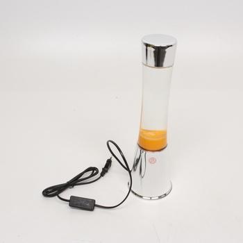 Lávová lampa Fisura LT0923 stříbrná