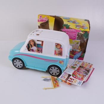 Auto pro panenky Barbie modro-bílé