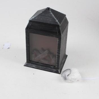Závěsná lucerna LED ohniště černá