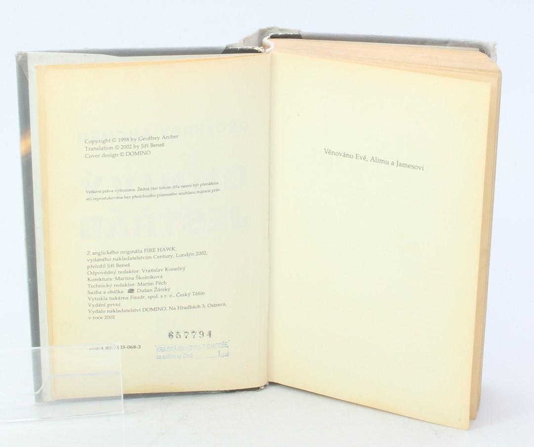 Kniha Geoffrey Archer: Ohnivý jestřáb