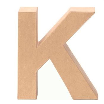 Hnědé papírové písmeno K Glorex