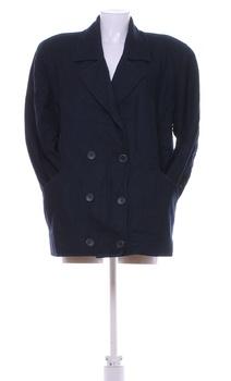 Dámský společenský kabát modrý