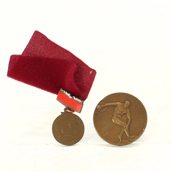 Sada medailí s atletickou tématikou
