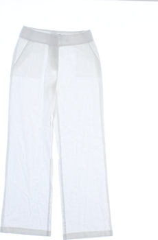 Dámské plátěné kalhoty Marks & Spencer bílé
