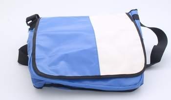 Crossbody taška, modrobílá