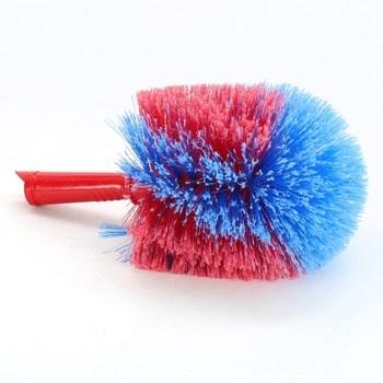Červeno-modrá wc štetka,náhradní hlavice