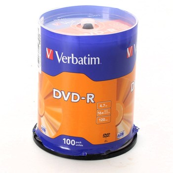 Balení 100 ks DVD-R Verbatim