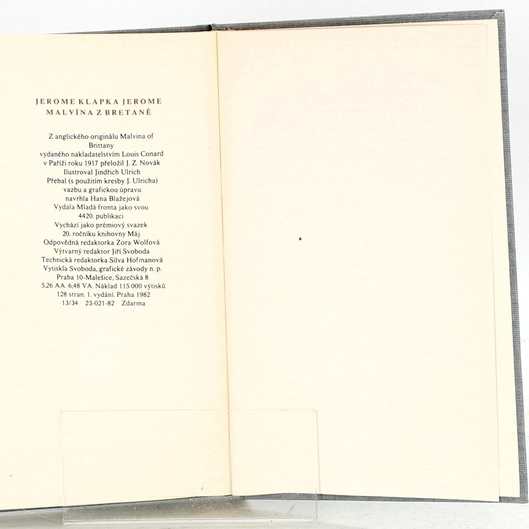 Jerome Klapka Jerome: Malvína z Bretaně