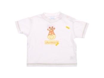 Dětské tričko Cherokee bílé s žirafou