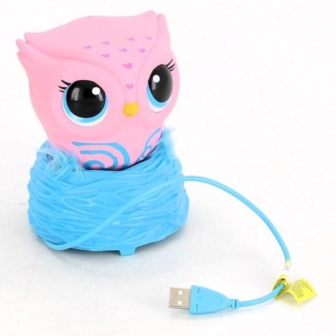 Interaktivní hračka Owleez sovička růžová