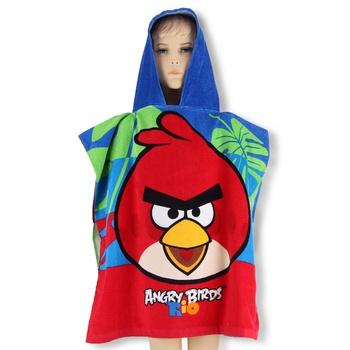 Dětské pončo Angry Birds 60x120cm