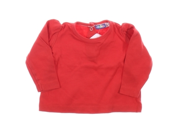 Kojenecké jednobarevné triko Lupilu červené