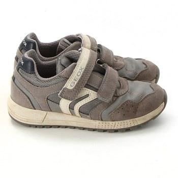 Dětské sandále Geox kožené zelené