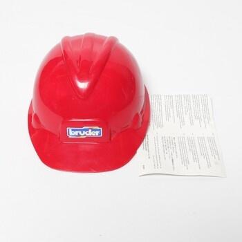 Stavbařská helma Bruder červená