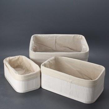 Úložné boxy RelaxDays do koupelny 3 ks