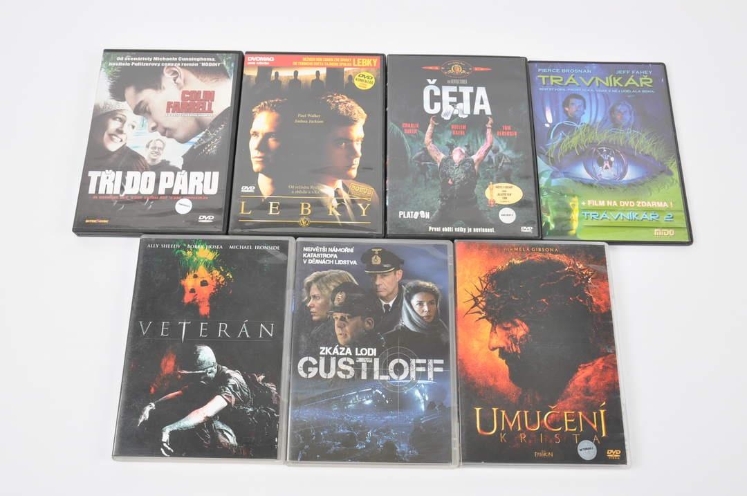 7 filmů na DVD (Umučení Krista, Trávníkář