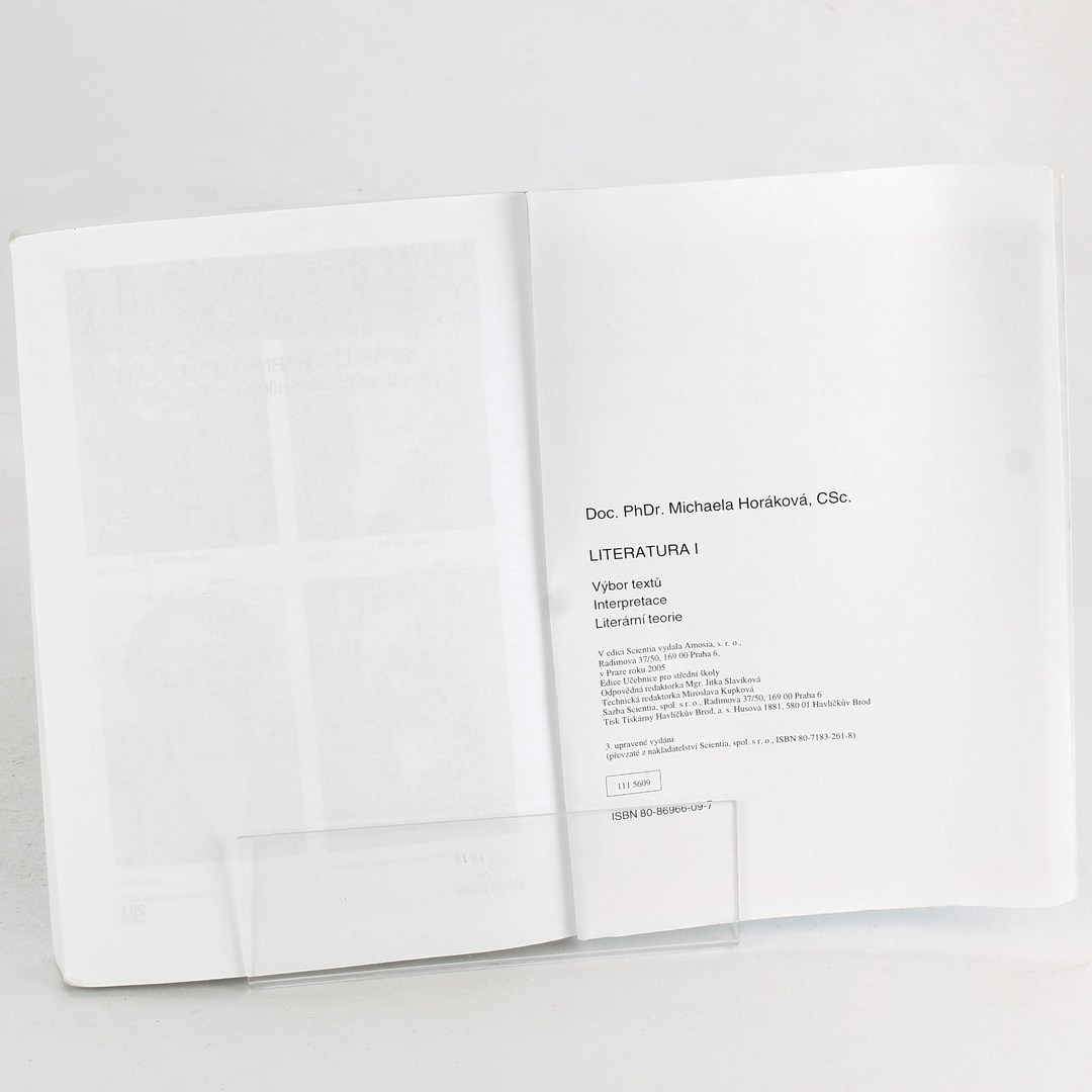Michaela Horáková: Literatura I.