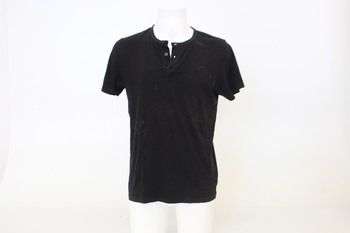 Pánské černé tričko C&A s krátkým rukávem