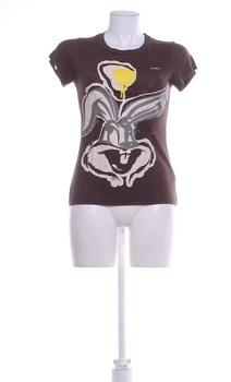 Dámské tričko Zara Bugs Bunny černé