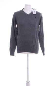 Pánský svetr U.S. Polo Assn. šedý M