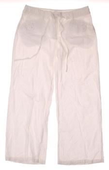 Dámské plátěné kalhoty Next bílé