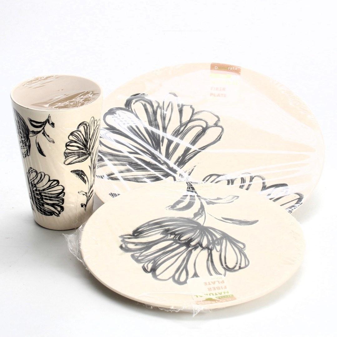 Bambusová jídelní sada Decorata