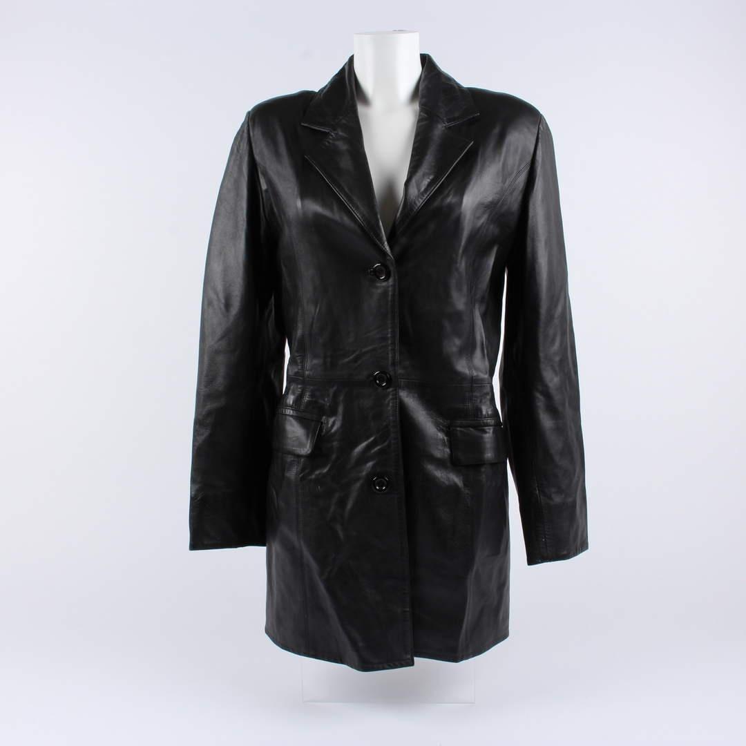 Dámský kabát kožený