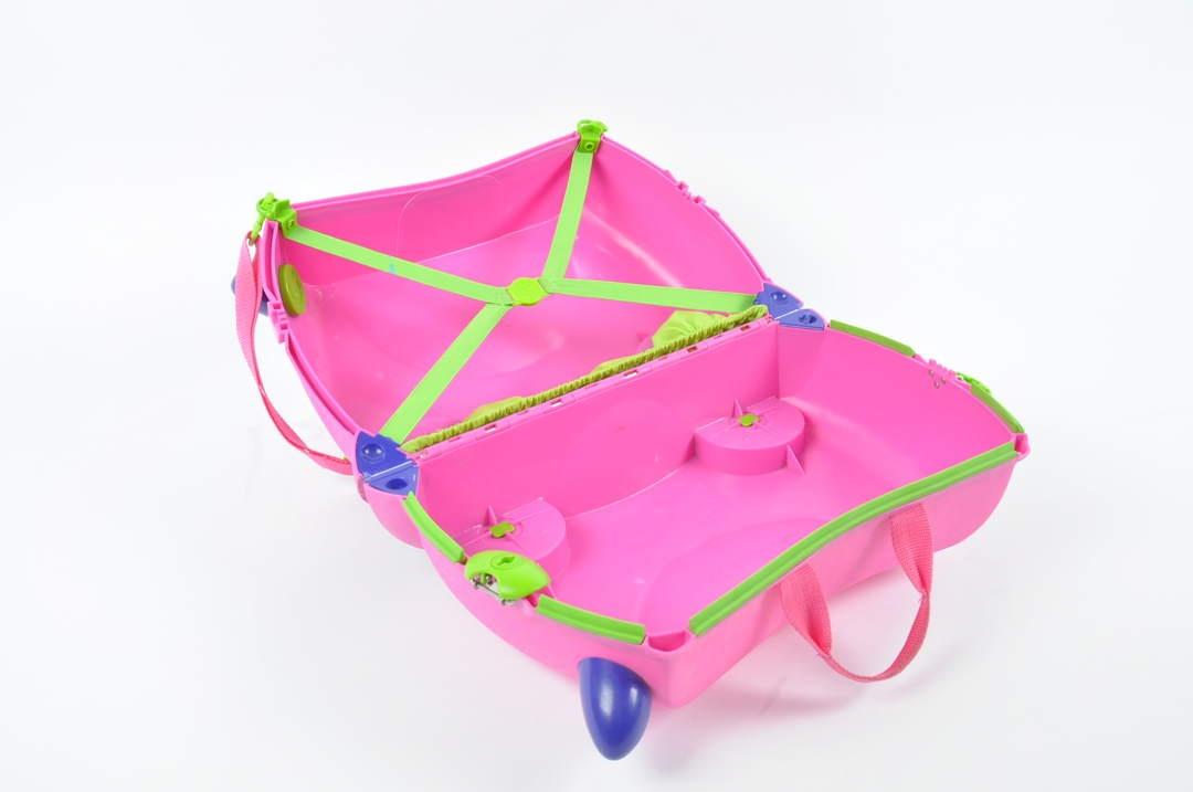 Dětský růžový cestovní kufřík, značka Trunki
