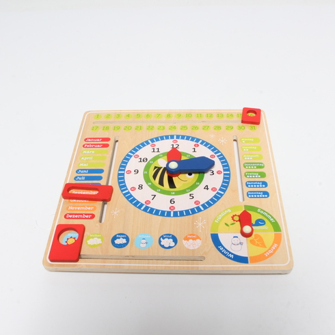 Dřevěné hodiny Small Foot Play & Learn