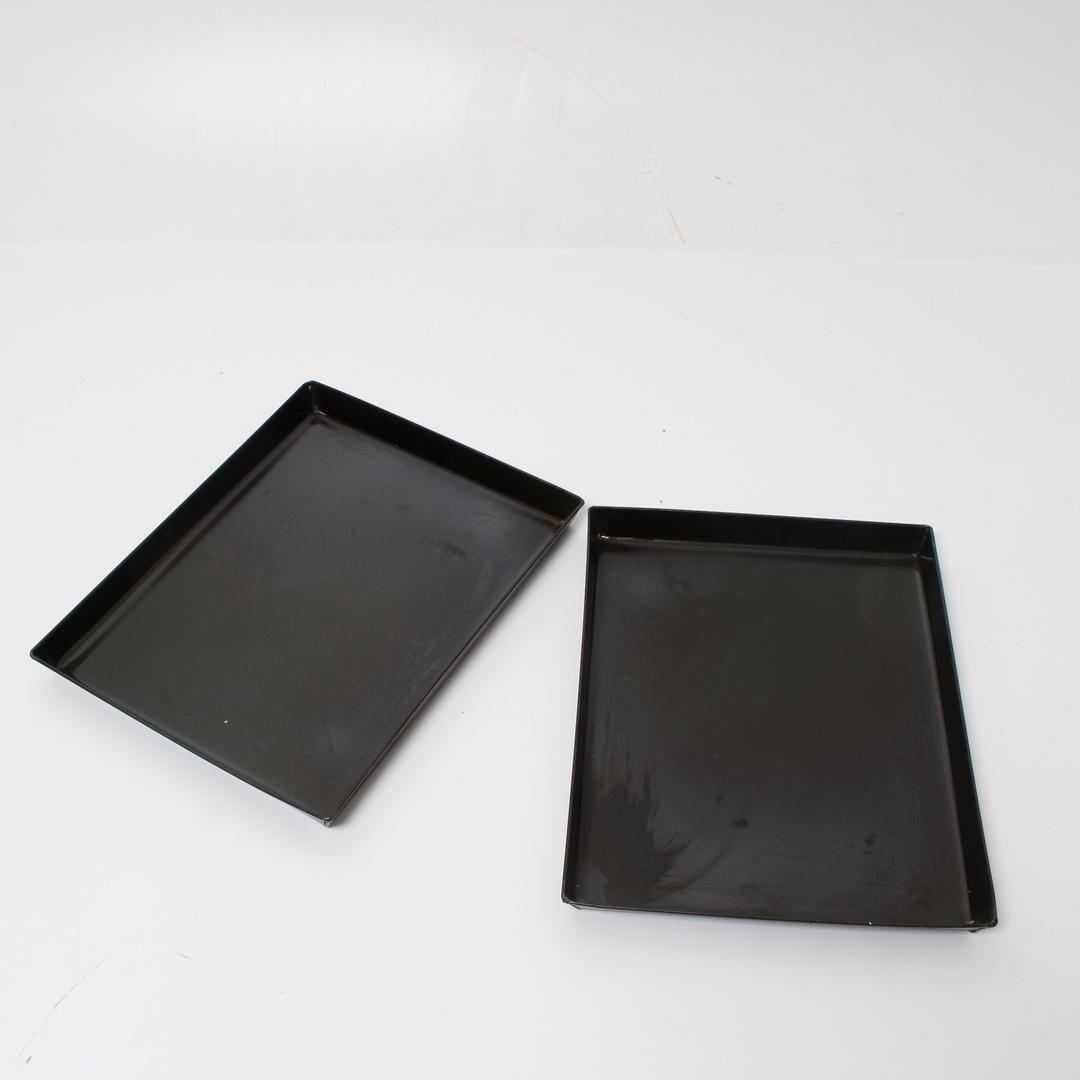 Pečící plechy černé 36 x 28 cm 2 ks
